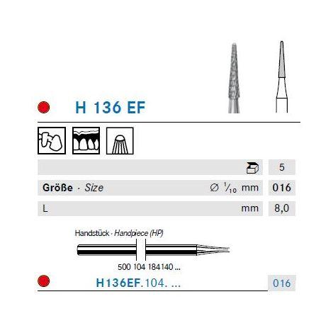 KOMET Hartmetall Fräser H136EF.104.016