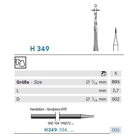 KOMET Hartmetall Bohrer H349.104.005