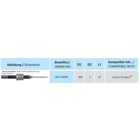 HORICO CAD/CAM Fräser XSZ A3006R kompatibel mit Amann Girrbach beschichtet