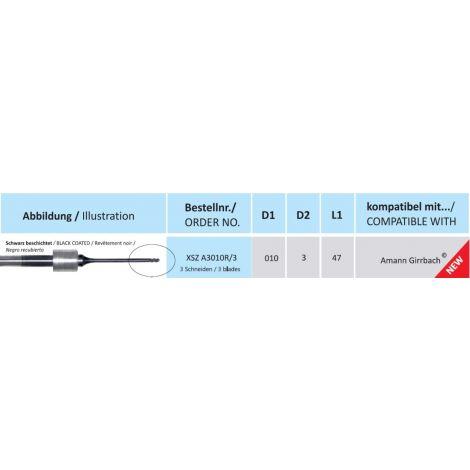 HORICO CAD/CAM Fräser XSZ A3010R/3 kompatibel mit Amann Girrbach beschichtet 3 Schneiden