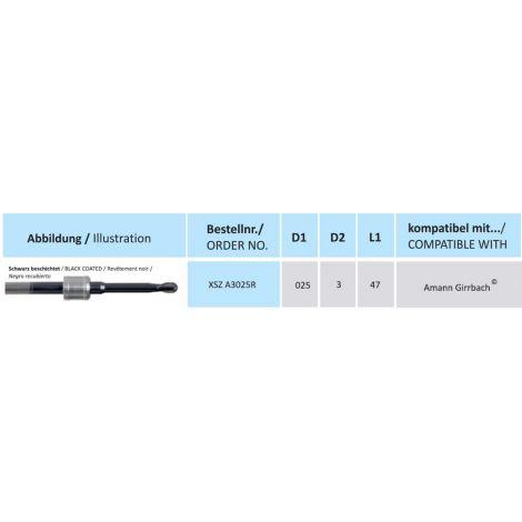 HORICO CAD/CAM Fräser XSZ A3025R kompatibel mit Amann Girrbach beschichtet